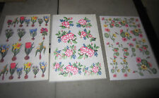 RUB ON TRANSFERs - FLOWERS-150 Sheets 3 designs