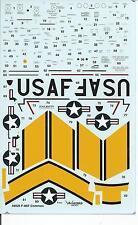 Warbird F-86 E, F Sabre Common Data, Stencil, ID Band Decals 1/48 WBD 48 025