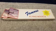 "Vintage Famous Flying Models Spitfire Rubber Power Wood Kit 20"" Wing Span"