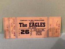 The Eagles Concert Ticket Stub 6-26-1980 Cedar Falls Iowa