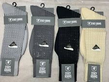 NEW 4 PAIRS STACY ADAMS NYLON SILKY MENS CREW SHORT DRESS SOCKS SIZE 6-12.5