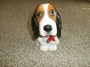 """Pioneer Woman """"Henry"""" The Basset Hound Earthenware Candy/Treat Jar Ceramic Dog"""