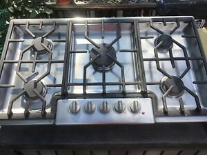 """Stainless Steel Cooktop 36"""" Gas"""
