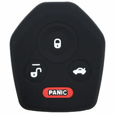3+1 Buttons Black Silicone Keyless Remote Key Fob Case Skin Cover fit for Subaru