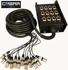 Cobra 12 Inputs Stage Box Snake (INPUTS Only) 10m