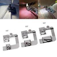 1 / 3Pcs Stainless Steel Sewing Machine Foot Presser Rolled Hem Feet