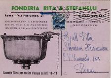 #ROMA: FONDERIA RITA & STEFANELLI- via Portuense- dep. lingotti- mensole lavabi
