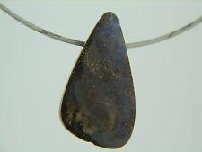 "Purpolish Opal Slide Pendant on stainless steel wire 16"" choker modern look"