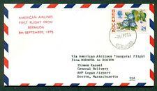 FAM FLIGHT COVER 1975 AAMC F26-88 HAMILTON,BERMUDA TO BOSTON AMERICAN AIRLINES