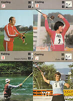 CASTING and FISHING Sport 1977 SPORTSCASTER 4 CARD SET