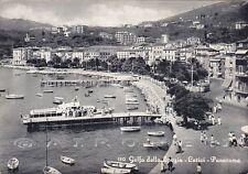 LA SPEZIA LERICI 39 BATTELLO Cartolina viaggiata 1957
