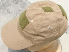 AIRSOFT beige CB Kaki Casquette baseball avec patchs UK pêche