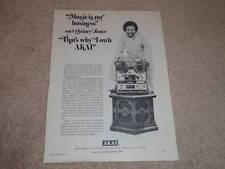 Akai GX 365D Open Reel Ad, 1971, Quincy Jones in Ad