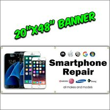 CELL PHONE REPAIR banner sign we fix cell phones iphone samsung lg htc tablet
