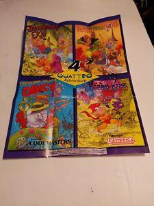 NES Four Quattro Adventure original Poster OOP