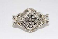 .50CT NATURAL ROUND DIAMOND CLUSTER/ENGAGEMENT RING SIZE 6.5
