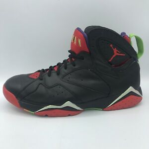 Nike Air Jordan 7 Retro VII Marvin Martian Black Red Green 304775-029 Size 11.5