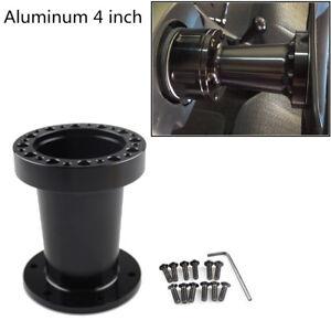 Black Aluminum 4inch/101mm Car Racing Steering Wheel Hub Spacer Adapter Boss Kit