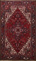 Vintage Traditional Hand-Knotted Area Rug Geometric Oriental Wool Carpet 7x10