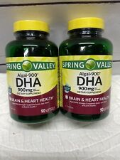 2-Spring Valley Algal-900 DHA Softgels, 900mg Per Serving, 180 Count - Brand New