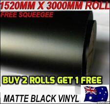Matte SATIN Black Matt Car Vinyl Wrap DECAL Sticker FILM 1520mm X 3M AIR RELEASE