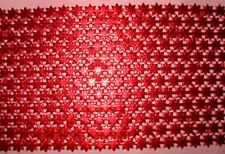 German Dresden 804 Red Stars Christmas Victorian Scrap Border Foil Paper Die Cut