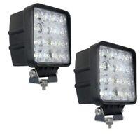 2x 48W 3Wx16 kaltweiss LED Scheinwerfer Arbeitsscheinwerfer Garten lampe 12-24V