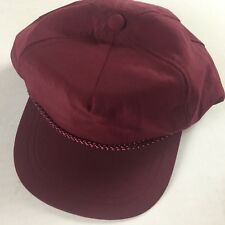 Maroon Double Snapback VTG Hat Cap Lightweight 80s 90s Adult One Size Mens Gift