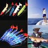 Minnow Night Fishing Lure Plastic Bait Hooks Bass Fish Crank Crankbait Tackle