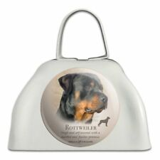 Rottweiler Rottie Dog Breed White Metal Cowbell Cow Bell Instrument
