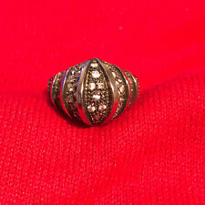 Dome Ring Women's Ring Size 7.75 Sterling Silver 925 Round Cubic Zirconia