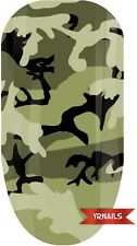 Nail WRAPS Nail Art Water Transfers Decals - Army Camouflage Khaki - W059
