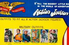 """1971 ACTION JACKSON 8"""" mego figure -- MILITARY SPORTS -- SHIRT PANTS SHOES SUIT"""