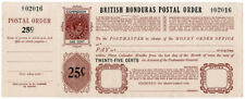 (I.B) British Honduras Revenue : Postal Order 25c