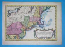 1752 NICE ORIGINAL MAP UNITED STATES PENNSYLVANIA NEW YORK MASSACHUSETTS BELLIN