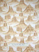 Nautical Fabric - Beach Ocean Sand Castles Sand Beige - Timeless Treasures YARD