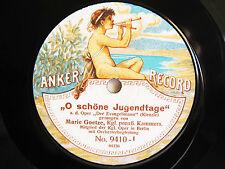 78rpm OPERA - MARIE GOETZE sings KIENZLE+MEYERBEER - GERMAN ANKER RECORD