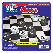 TAKE AND PLAY ANYWHERE MAGNETIC CHESS GAME IN METAL CONTAINER