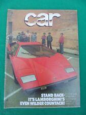 Car Magazine - January 1978 - Lamborghini Countach