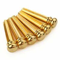 6pcs Brass Bridge Pins for Acoustic Guitar Golden Accessories Guitar Parts