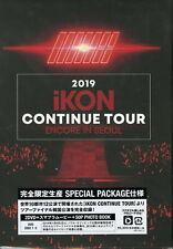IKON-2019 IKON CONTINUE TOUR ENCORE IN SEOUL-JAPAN 2 DVD+BOOK M91 sd