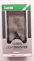 LUCAS H1 LightBooster 130% Brighter 12V 55W Halogen Headlamp Bulbs X2
