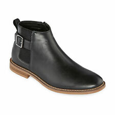"ARIZONA MEN HOLLAND FLAT HEEL CHELSEA BLACK BOOTS ""SIZE 10"" NEW IN BOX!!"