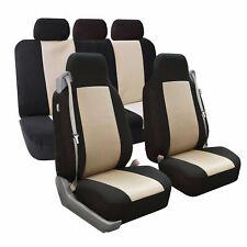Car Seat Cover Integrated Seatbelt Highback Full Set Beige