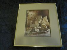 "Claude Haycraft ""Doll In A Chair"" Signed Art Photograph 14x17"""