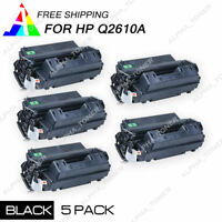 5 Pack Q2610A 10A Bk Toner Cartridge for HP LaserJet 2300 2300d 2300dtn Printer