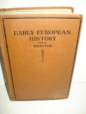Vintage 1920 Early European History By Hutton Webster - Hardcover Great Shape