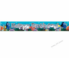 Birthday Party Disney Finding Nemo Dory Foil Hanging Banner Bunting Decor 180cm