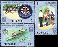 Tuvalu Boys Brigade Boats  Running MNH ** (21)