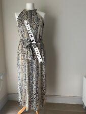 Zara Snake Print Belted Dress With Side Vents & Pockets. Size S